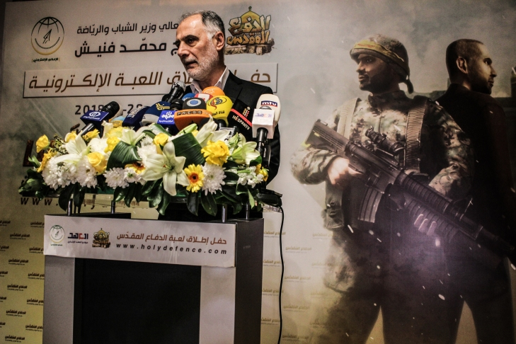 Mohammad Fneich, Lebanon's Minister for Youth and Sports and a prominent Hezbollah member, celebrates the game and Hezbollah's victories in Syria.