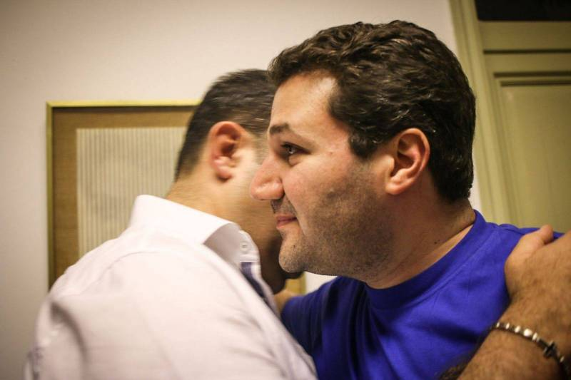 Le candidat Nadim Gemayel à Saïfi, dimanche 6 mai 2018. Photo Philippe Pernot.